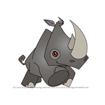 How to Draw Rhinoceros from Animal Jam