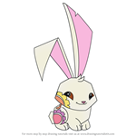How to Draw Spring Bunny from Animal Jam