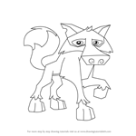 How to Draw Wolf from Animal Jam
