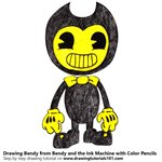 How to Draw Bendy from Bendy and the Ink Machine