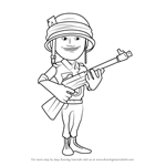 How to Draw Rifleman from Boom Beach