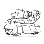 How to Draw Scorcher from Boom Beach
