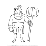How to Draw Warrior from Boom Beach