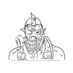 How to Draw Krieg from Borderlands