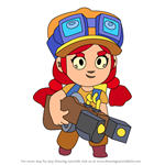 How to Draw Jessie from Brawl Stars