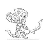 How to Draw Ember from Brawlhalla