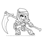 How to Draw Mirage from Brawlhalla