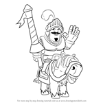 How to Draw Prince from Clash Royale