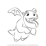 How to Draw Baby Dragon from Clash of the Clans