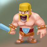 How to Draw Barbarian from Clash of the Clans