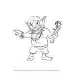 How to Draw Goblin King from Clash of the Clans