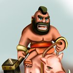 How to Draw Hog Rider from Clash of the Clans