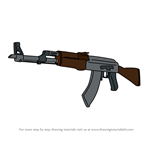 How to Draw AK-47 from Counter Strike