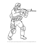 How to Draw Counter Terrorist from Counter Strike