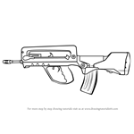 How to Draw FAMAS from Counter Strike