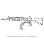 How to Draw Galil AR from Counter Strike