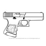 How to Draw Glock-18 from Counter Strike