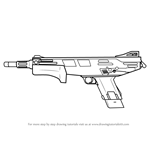 How to Draw MAG-7 from Counter Strike