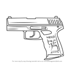 How to Draw P2000 from Counter Strike