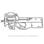 How to Draw P90 from Counter Strike