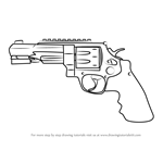 How to Draw R8 Revolver from Counter Strike