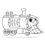 How to Draw Head of the Train from Cuphead