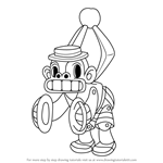 How to Draw Mr. Chimes from Cuphead