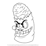 How to Draw Mr. Wheezy from Cuphead