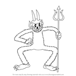 How to Draw The Devil from Cuphead