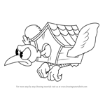 How to Draw Wally Warbles from Cuphead