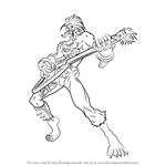 How to Draw Lord Raptor from Darkstalkers