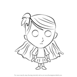 How to Draw Wendy from Don't Starve