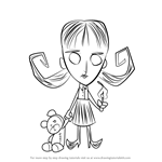 How to Draw Willow from Don't Starve