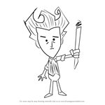 How to Draw Wilson from Don't Starve