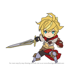 How to Draw Euden from Dragalia Lost