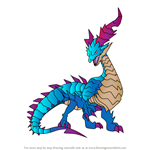 How to Draw Mercury Dragon from Dragalia Lost