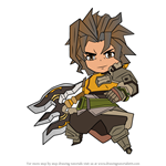 How to Draw Ranzal from Dragalia Lost
