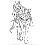 How to Draw Princess Medea Horse from Dragon Quest VIII