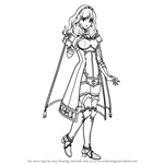 How to Draw Celica from Fire Emblem