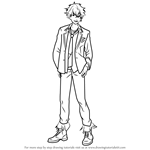 How to Draw Koga Oogami from Ensemble Stars
