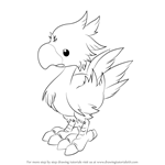 How to Draw Chocobo from Final Fantasy