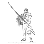 How to Draw Sephiroth from Final Fantasy