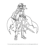 How to Draw Ike from Fire Emblem - Radiant Dawn