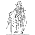 How to Draw Alfonse from Fire Emblem