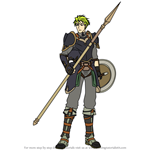 How to Draw Aran from Fire Emblem