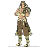 How to Draw Atlas from Fire Emblem