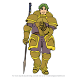 How to Draw Bors from Fire Emblem