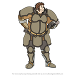 How to Draw Brom from Fire Emblem