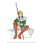 How to Draw Cain (Thracia 776) from Fire Emblem
