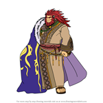 How to Draw Caineghis from Fire Emblem